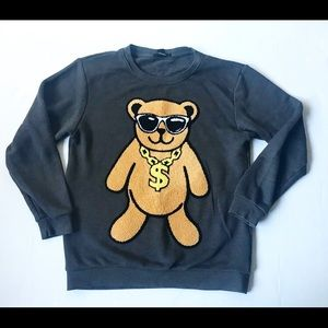 Forever 21 3D bear sweatshirt size small